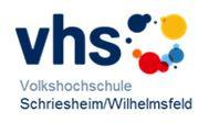Logo der Volkshochschule Schriesheim/Wilhelmsfeld