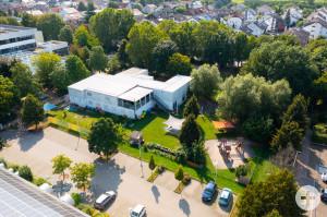 """Luftaufnahme des Kindergartens """"Wolkenschloss"""" in der Conradstraße"""