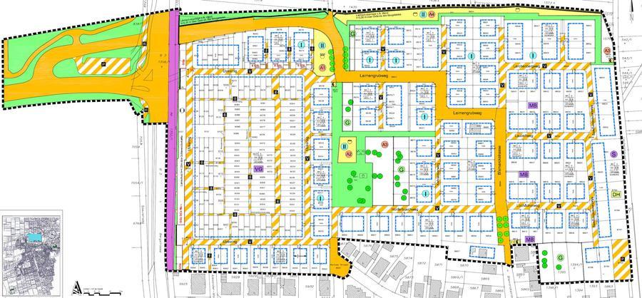 """Geltungsbereich Bebauungsplan """"Schriesheim Nord"""" inklusive Änderungen"""