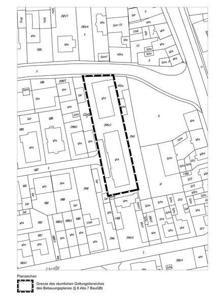 """Geltungsbereich des vorhabenbezogenen Bebauungsplans """"Ladenburger Straße 7"""""""