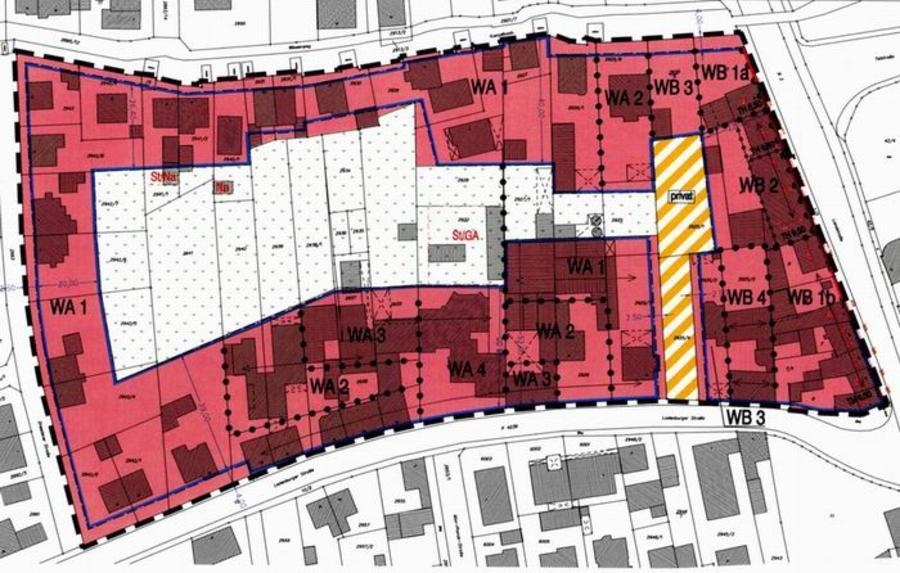 """Geltungsbereich des Bebauungsplans """"Ladenburger Straße / B3"""""""